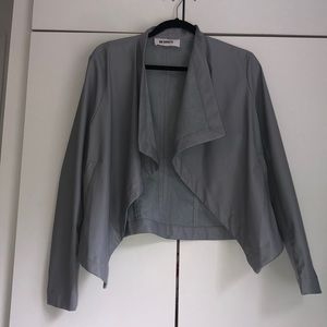 Women's faux leather suede Grey jacket